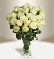 Bouquet of white roses - Get flowers in Prague